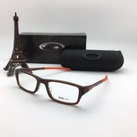 Jual Frame Kacamata Minus Oakley Chamfer Pria Wanita Coklat Orange Pre