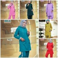 Believe Setelan Olahraga BMS 01 - Baju Kaos Olahraga Muslimah