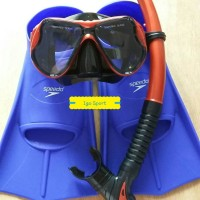 Set Alat Snorkeling/snorkling/selam/diving Speed+fin/kaki Katak Speedo