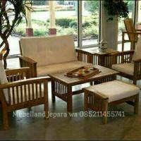 Kursi Tamu Sofa Jati (Furniture, Kursi Makan, Bufet, Lemari)
