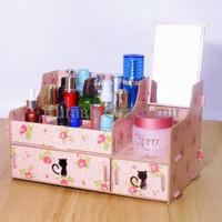 SPECIAL #618 New Rak Kosmetik CERMIN Kitty Cat Desktop Storage Kitty S