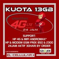 Kartu Perdana Internet Smartfren 4G LTE / GSM Kuota 13GB Full 24 Jam