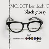 Kacamata Baca Mos*Cot Lemtosh KW Black Glossy Frame Bisa Minus Plus