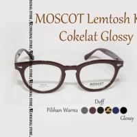 Kacamata Baca Mos*Cot Lemtosh KW Brown Glossy Frame Bisa Minus Plus
