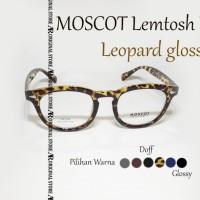 Kacamata Baca Mos*Cot Lemtosh KW Leopard Glossy Frame Bisa Minus Plus