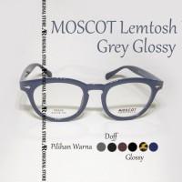 Termurah Kacamata Baca Mos*Cot Lemtosh KW Grey Glossy Frame Minus Plus