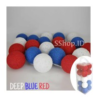 Jual Cotton Ball Light Deep Blue Red Lampu Hias Dekorasi Tumblr Lamp Murah