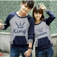 Sweater Couple King Queen/ Jaket Murah / Jaket Couple