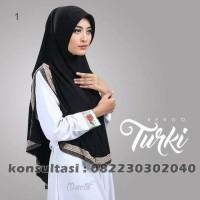 Jilbab instan turki terbaru warna Hitam