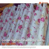 Jual Gorden blackout vintage shabbychic Pink Rose tirai gordyn shabby Murah