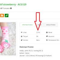Kaos Kaki Anak Bayi Balita Cewe Perempuan Motif Strawberry - ACG129