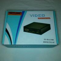 NETLINE Konverter HDMI to AV +Adaptor