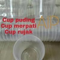 Cup merpati - Cup puding - gelas plastik rujak