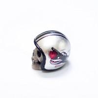 gantungan kunci helm handmade shack silver skillo- skillo SK032