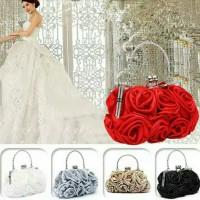 tas pesta pernikahan satin mawar import terbaru
