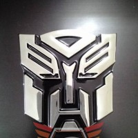 Emblem Sticker Stiker Logo Transformer Autobot Chrome