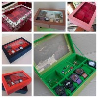 Kotak Jam Tangan Isi 6 + Perhiasan & Aksesoris / Box Tempat Aksesori