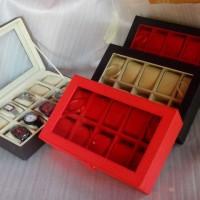 PROMO - Kotak Jam Tangan Isi 10 JUMBO / Box Tempat Jam Tangan