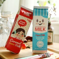 Kotak Pensil Bentuk Kotak Susu / Milk Tempat Alat Tulis Tempa - SM0222