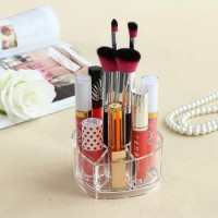 1057 Desktop Storage Clear Acrylic Rak Makeup Brushes Lipstik