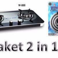 Paket 2 in 1 kompor W888 Winn gas + Selang Gas paket Winn gas Platinum