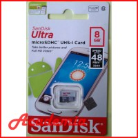Micro SD SanDisk 8GB ULTRA Class 10 MicroSD SANDISK 8 GB No Adapter