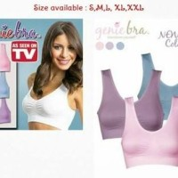 GENIE BRA PASTEL COLOR COLOUR MADE IN JAPAN BH KEMBEN SPORT BRA GENI