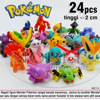 24pcs Pokemon Figure-Pokemon Go-Game-Film Anime-Pocket Monsters-VB115