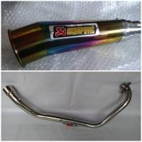 Knalpot Racing Akrapovic Meghapon Rainbow Fullset Yamaha Byson / Scorpio