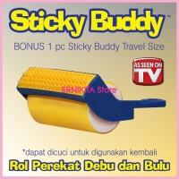Sticky Buddy 2 in 1 | Rol Perekat Debu & Bulu di Baju, Sofa & Karpet
