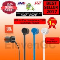 JBL In-Ear Headphone T110 Pure Bass Sound Garansi Resmi Original 100%