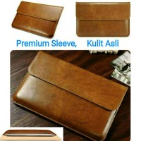 Sleeve Case Kulit Asli for Macbook, Ultrabook , Tas Laptop , Icarer