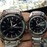 Swiss Army Pria Wanita Rantai Tanggal Hari Watch Dhc Jam Tangan Couple