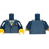 Lego Torso Suit Pinstripe Jacket and Gold Tie Pattern / Dark Blue Arms