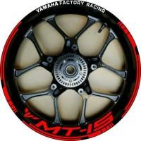 stiker velg yamaha Xabre MT15 yamaha factory racing ring 17