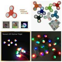 3 LED Light EDC Hand Spinner Tri Fidget Finger Gyro Desk Focus Toys