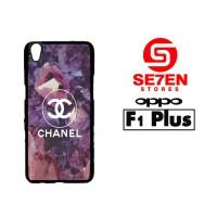 Casing HP Oppo F1 Plus (R9) Coco Chanel Logo Diamonds Custom Hardcase