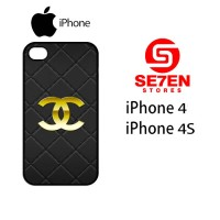 Casing HP iPhone 4 4s Chanel logo gold Custom Hardcase Cover