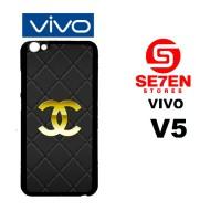 Casing HP VIVO V5 Chanel logo gold Custom Hardcase Cover