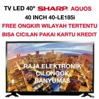 "TV LED SHARP 40"" LC-40LE180i AQUOS HDMI USB MOVIE,LED SHARP 40 INCH HD"