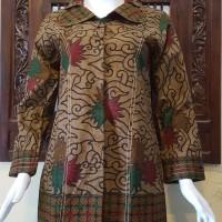 Jual Atasan Blouse Batik Wanita Lengan Panjang, Motif MM3 Pekalongan 248 Murah