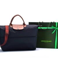 Tas Longchamp Travel Expandable Nylon HITAM Premium P50122