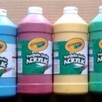 Crayola Paket 6 Botol Cat Acrylic Isi 946 Ml