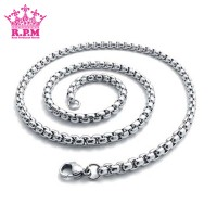 Jual Kalung Pria Titanium Warna Silver Stainless Steel 316L / Necklace Murah