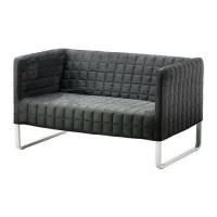 IKEA KNOPPARP Sofa dengan 2 dudukan oranye atau abuabu