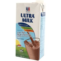 Susu UHT Ultra Milk Low Fat Choco Coklat 1 L iter
