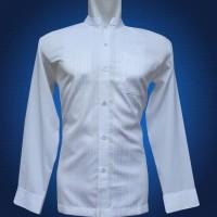 Jual Baju Koko Pria, Lengan Panjang Putih Shirting Manset Murah