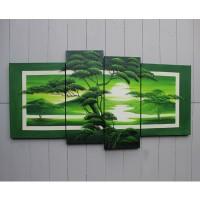 Hiasan Dinding Gambar Lukisan Alam - Nuansa Hijau ( RTH - 2 ) FAFA51