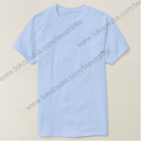 Jual Kaos Polos Kaos Oblong Kaos Polosan Light Blue Cotton Combed 30s Murah