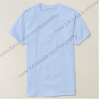 Jual Kaos Polos Kaos Oblong Kaos Polosan Light Blue Cotton Combed 30s Murah